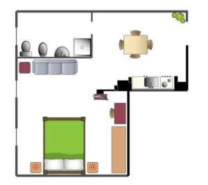 Appartamento A - 45mq