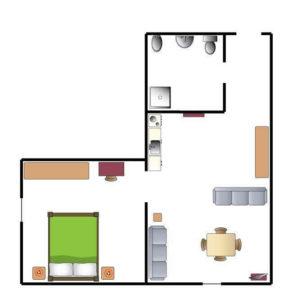 Appartamento C- 60mq